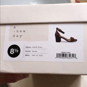 Block heel sandals from Target